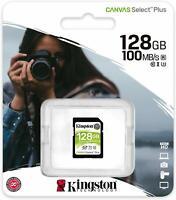 Kingston 128GB 128 GB SD SDHC SDXC Flash Card Class 10 UHS-I U3 100MB/s