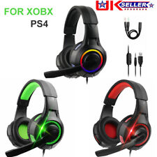 Gaming Headset For Xbox One PS4 Nintendo Switch PC Mac 3.5mm Headphones With Mic