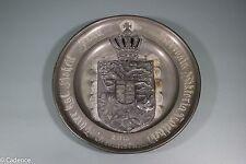 Ww1 German Commemorative Named Pewter Plate. Fancy. Multipeice. Heavy