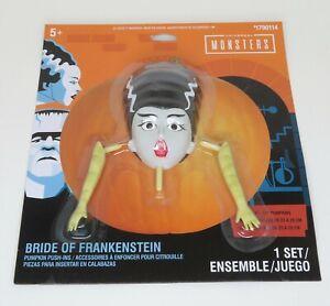 New Pumpkin Decorating Kit Bride of Frankenstein Push-Ins Easy No Mess!!