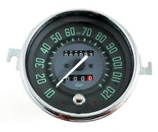 VW BUG BUS GHIA ISP 120 MPH SPEEDOMETER w/TRIP ODOMETER GREEN NUMERICAL FACE