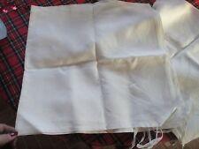 "pr. vintage card tablecloths / ties never used  unique fine heavier linen 54"" sq"