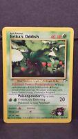Pokemon Card Erika's Oddish 47/132 Gym Heroes Uncommon Near Mint