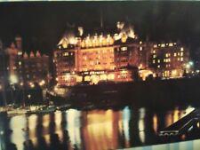 VINTAGE PHOTO POST CARD JEWEL IN THE NIGHT EMPRESS HOTEL VICTORIA B.C. CANADA