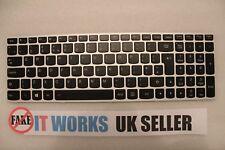 GENUINE Silver Lenovo PK131BJ2B10 5N20H03540 Backlit Keyboard V-149420DK1-UK