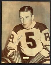 Nice Vintage 1930's Aubrey Dit Clapper Boston Bruins Hockey HOF Signed Photo!