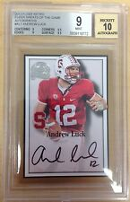 2013 Retro Andrew Luck Greats Of The Game Auto BGS Graded 9 Mint 10 Gem Auto SSP