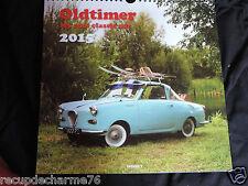Calendrier photo 2015 Oldtimer 2 cv jaguar fiat 500 austin capri goggomobil ds21