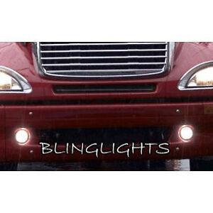 LED Halo Fog Lamp Angel Eye Driving Light Kit For Freightliner Columbia Foglamps