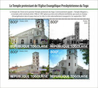 Togo Churches Stamps 2020 MNH Temple of Christ Lome Architecture Religion 4v M/S