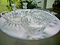 Home Decor Set of 5 Crystal Pieces Heart Bowl Mikasa Crystal Tray More!