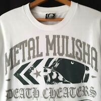 METAL MULISHA Mens Large T Shirt All Over Graphics Death Cheaters Cotton Mexico