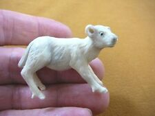 cow-1) Albino baby Calf dairy Cow of shed ANTLER figurine Bali detailed carving