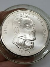 1973 Panama 20 Balboas Simon Bolivar Sterling Silver Commemorative Coin-