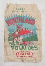 Northland Advertising Printed Burlap Bag Potato Sack Wall Art Decor Fun NOS