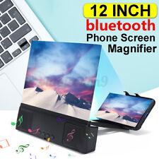 12'' Phone bluetooth Screen Magnifier Display 3D HD Video Amplifier Holder Stand