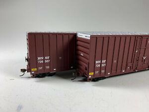 Walthers HO Scale BNSF Gunderson 50' Hi-Cube Paper Box Car (2 Pack) 932-27105 B