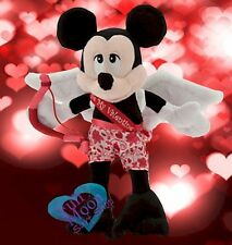 New Disney Valentine's Day  Mickey Mouse Cupid Stuffed Plush