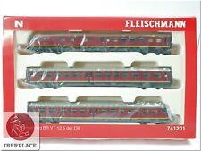 N 1:160 escala automotor locomotora trenes Fleischmann 741201 BR VT 12.5 DB NEW<