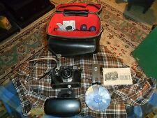 Vintage ARGUS AUTRONIC 2 Automatic 35MM Camera W/ Leather Bag & Accessories !