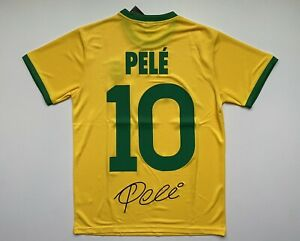 Pele #10 Brasil Yellow Soccer Jersey Men Size XL Free ShipReturn US Seller