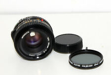 Minolta MD 50mm 1:2 f/2 MF Ø49 50mm/2 Lens Spiratone Polarizer Filter - Free S&H