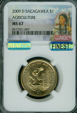 2009-D SACAGAWEA DOLLAR NGC MS67 PQ MAC FINEST BUSINESS STRIKE POP-11 SPOTLESS *