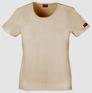 NWT Medium Khaki Cherokee Scrubs Workwear Short Sleeve Knit Tee 4808 KAKW