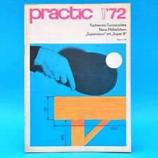 DDR practic 1/1972 Tischtennisplatte MZ 150 Stereoverstärker Belichtungsuhr C