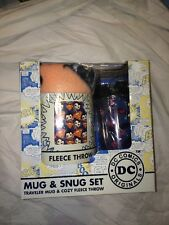 DC Comics Superman Mug and Snug Set Traveler Mug & Cozy Fleece Throw NEW In BOX