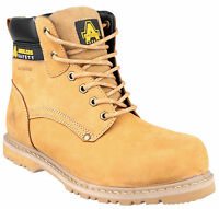 Amblers FS147 Waterproof Safety Boots Mens Honey Steel Toe Cap Shoes UK6-13