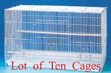 "NEW Lot of Ten Breeding Aviary LoveBird Breeder Bird Cages 20x14x14""H"