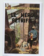 Carte Postale PASTICHE Tintin. Le Héros pétrifié. Les Aventures imaginaires