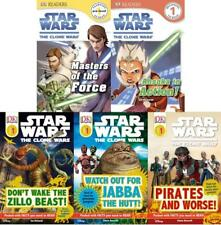 Star Wars CLONE WARS Childrens READERS Collection PRE & LEVEL 1 Set of Books 1-5
