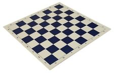 """20"""" Vinyl Chess Board –Meets Tournament Standards - Navy Blue -2.25 Inch Squares"""