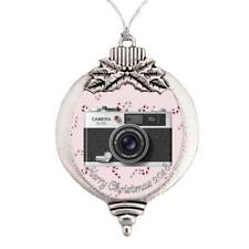 Camera Photography Hobby Merry Christmas 2019 Bulb Ornament Silver Metal Gift