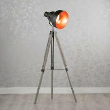 Retro Industrial Black Silver Metal Tripod Movie Floor Lamp (GB425)