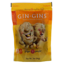 NEW THE GINGER PEOPLE GIN-GINS HARD CANDY DOUBLE GLUTEN FAT FREE VEGAN DAILY