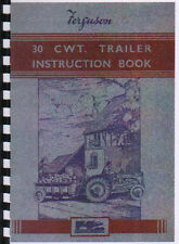 Ferguson 30cwt Tractor Trailer Operator Instruction Manual Book