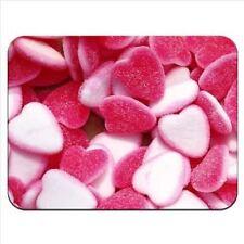 Alfombrilla de Ratón 66 Rojo Y Blanco Jelly Corazón Fresas Crema Calidad Premium