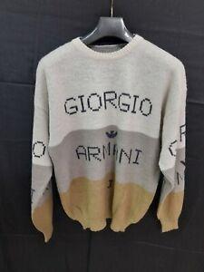 giorgio armani maglione uomo men felpa pullover sweater tg XL vintage alpaca 80s
