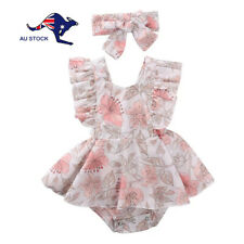 Baby Toddler Girl Clothes 2 Piece Summer Romper Dress