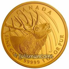 Canada 2017 Call of the Wild 4 Bugling Elk $200 .99999 Pure Gold Bellowing Proof
