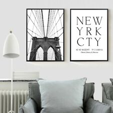 Puente de Brooklyn Nueva York Art Lona Impresiones póster de pintura para la decoración del hogar