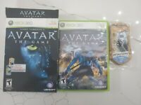 Xbox 360 Avatar the Game with 2 Mattel i-Tags RARE Free Fast Shipping
