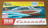 Lindberg Century Coronado Boat 1959 speed boat model kit cartograf decals 1/25