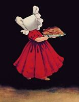 Victorian Trading Co Sunbonnet Sue w/ Turkey Thanksgiving Greeting Cards Pk of 6