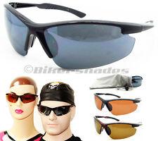 SPORT WRAP SUNGLASSES Half Frame Golf Running Tennis Cycling Baseball Glasses