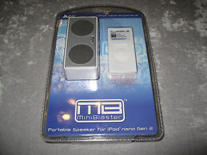 Mini Blaster Portable Speaker for iPod Nano Generation 2 Silicone Nano Skin NEW!