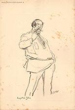1926 NEW STATESMAN PRINT ~ AUGUSTUS JOHN ~ LOW